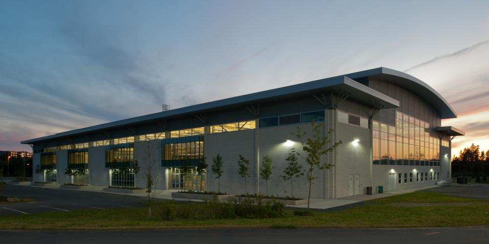 Canada Games Centre, exterior, fieldhouse