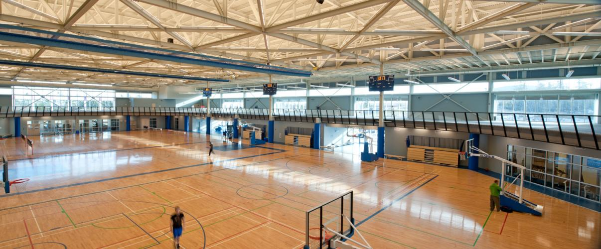 Canada Games Centre, interior, fieldhouse