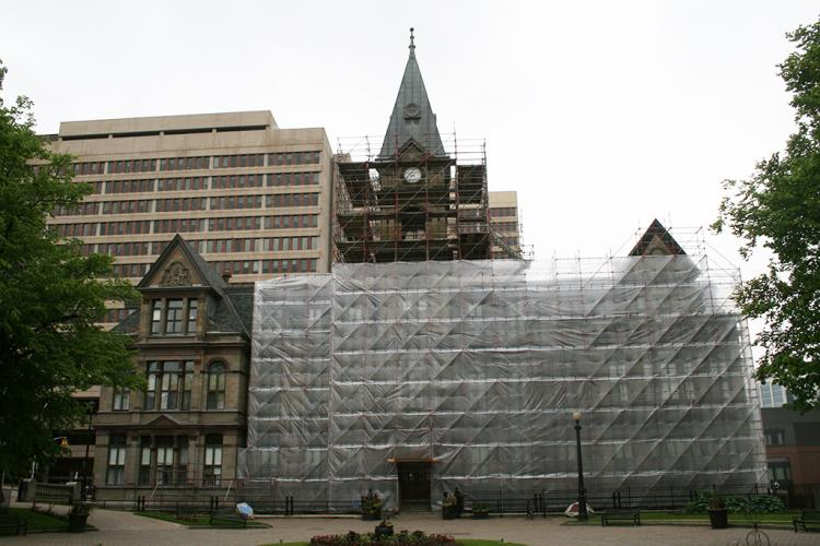 Halifax City Hall Scaffolding